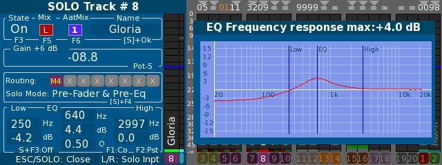 Cantar V3 A post fader equalization on tracks