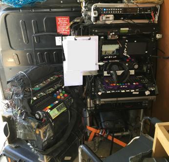 Stuart's recording setup with his Cantar X3 bag rig