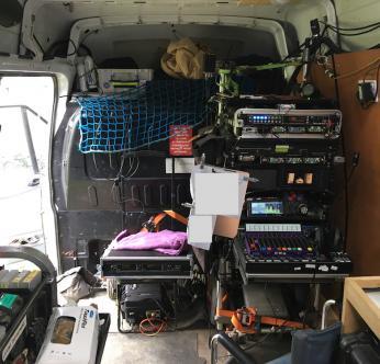 Another view of Stuart's cart setup