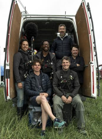 Sound Team with the mobile sound hub vehicle